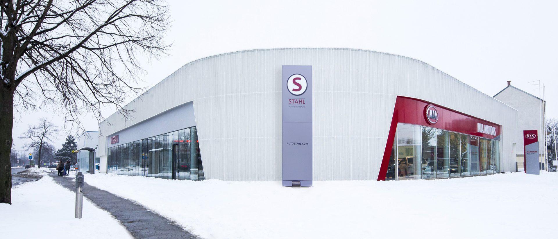 PR Außenanlage AUTO STAHL Wien 21 Autohaus WInter