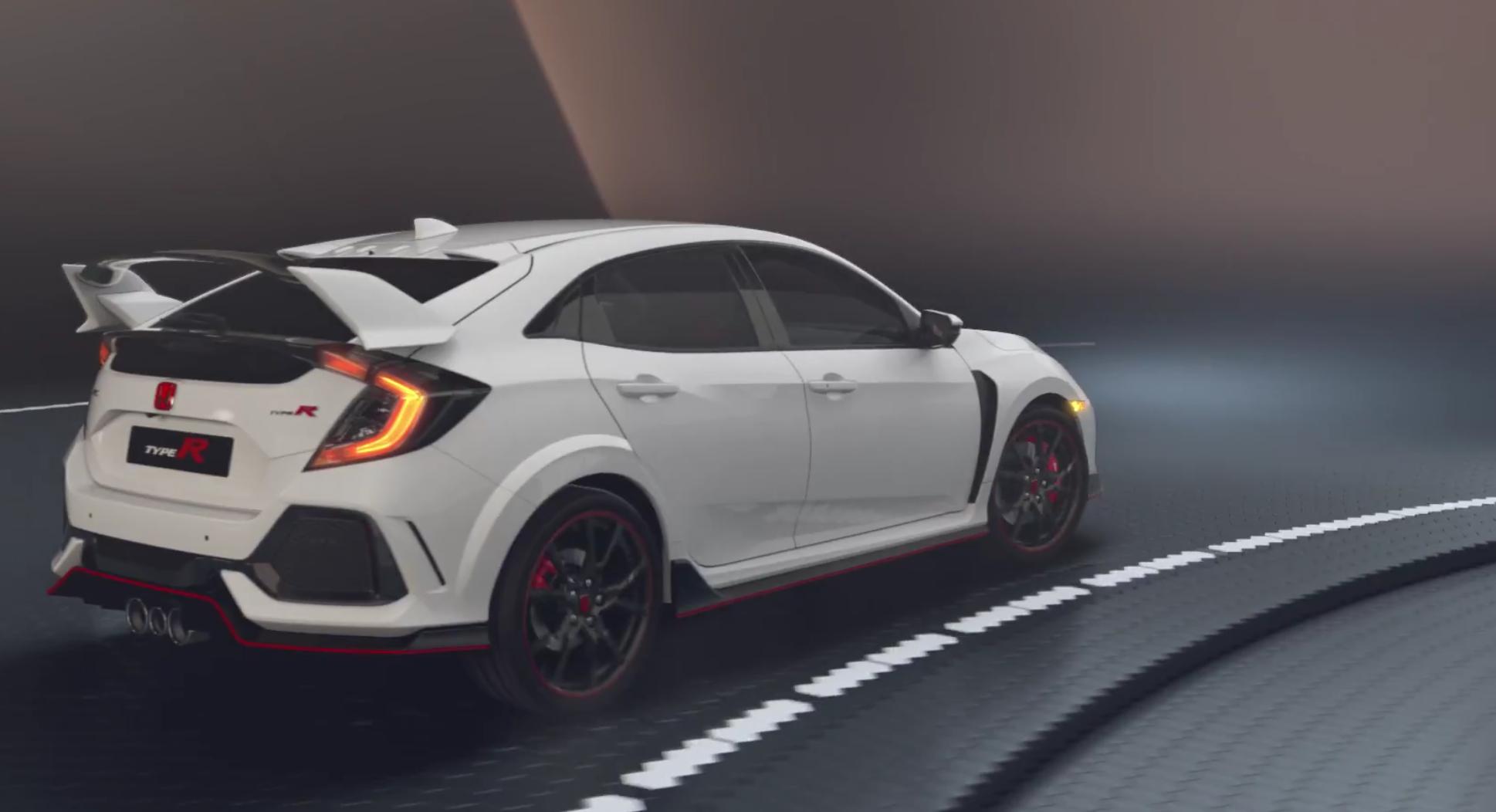 Honda Civic Type-R bei Auto Stahl Seitenansicht auf der Straße