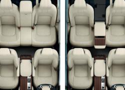 Range Rover bei Auto Stahl Innenansicht Vogelperspektive