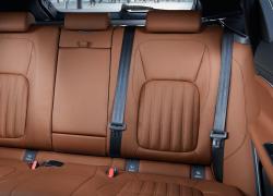 Jaguar F-PACE Auto Stahl Innenansicht Leder Braun Rückbank