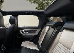 Auto Stahl der neue Discovery Sport 2019 Innenansicht Rücksitze Beige Schwarz