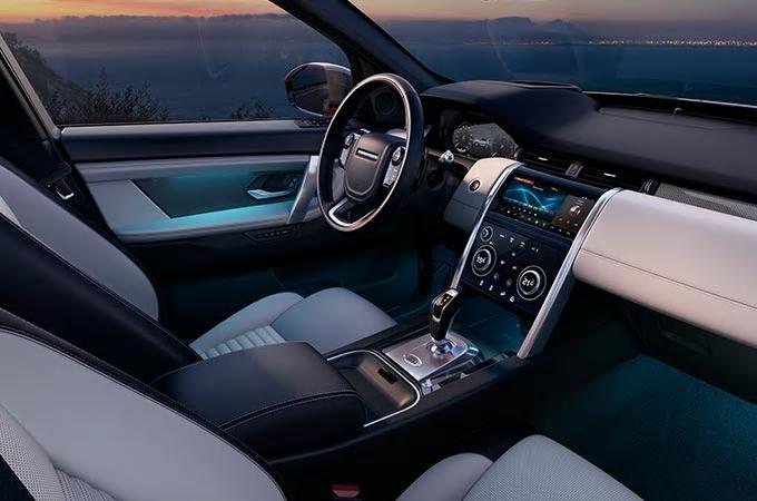 Auto Stahl der neue Discovery Sport 2019 Innenansicht Interieur