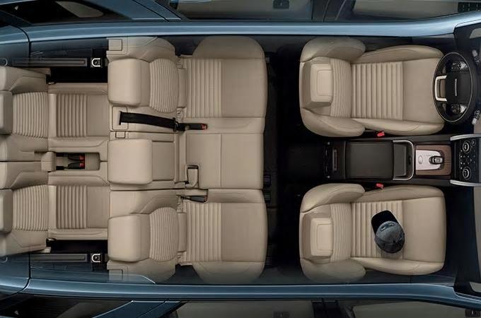 Auto Stahl der neue Discovery Sport 2019 Innenansicht Beige 7 Sitze