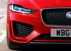 Auto Stahl der neue Jaguar XE 2019 Frontansicht