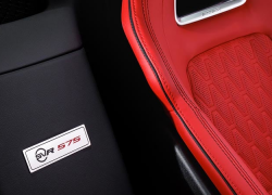 Jaguar F-Type SVR Interieur Sitze Schwarz Rot bei Auto Stahl