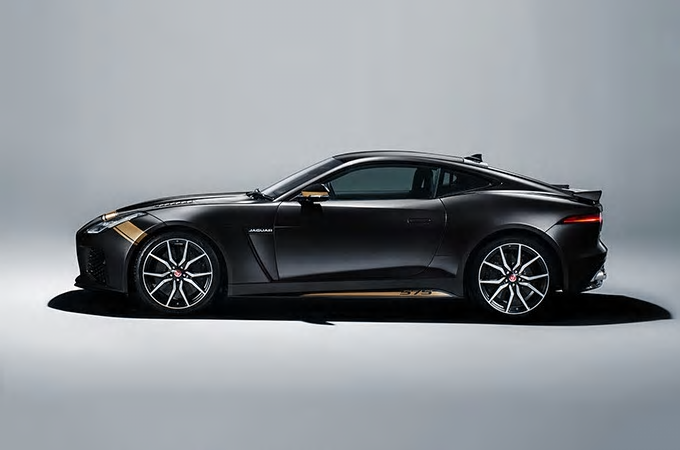 Jaguar F-Type SVR Graphic-Pack Santorini Black bei Auto Stahl & Gold