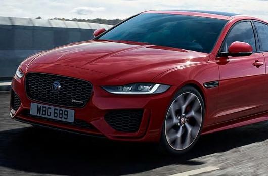 Auto Stahl der neue Jaguar XE 2019 Frontansicht Rot Scheinwerfer