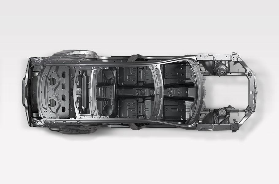 Jaguar XJ Vogelperspektive