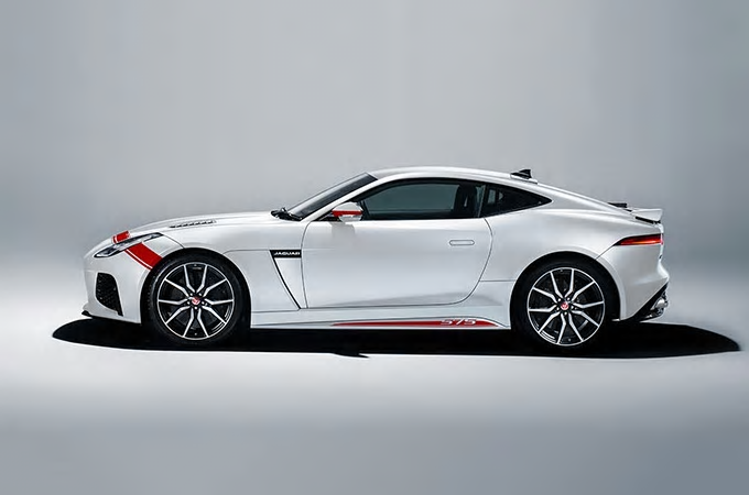 Jaguar F-Type SVR Graphic-Pack Yulong white & Firenze Red bei Auto Stahl