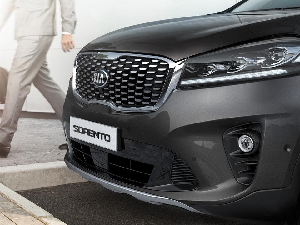 Kia Sorento Auto Stahl Foto Fahrzeugfront Kühler schräge Ansicht