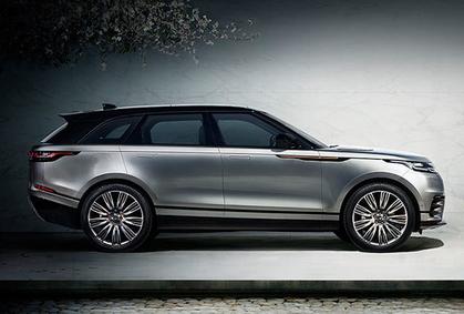 Range Rover Velar bei Auto Stahl Seitenansicht