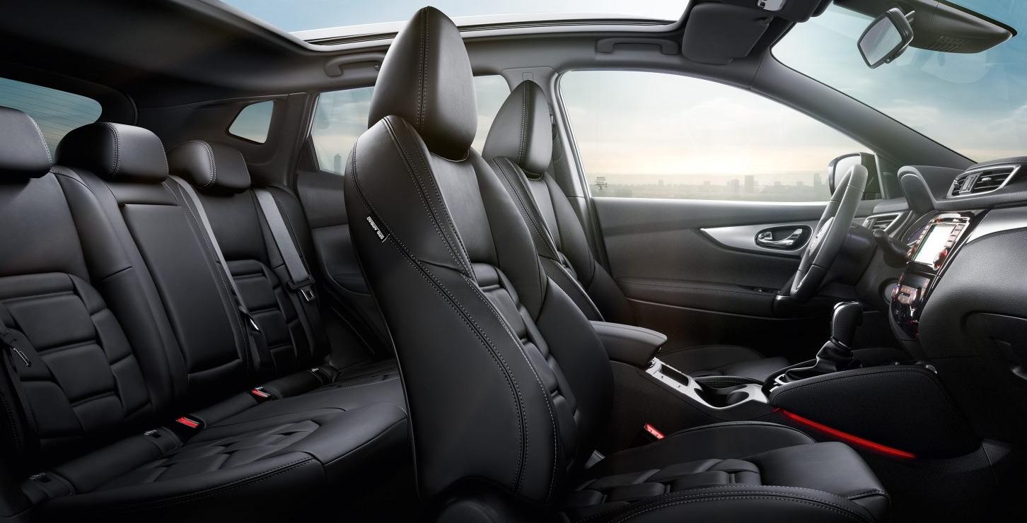 Nissan Qashqai 2017 Innenansicht Schwarz Leder