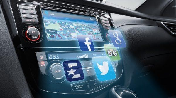Nissan Qashqai Auto Innenansicht Navi Radio
