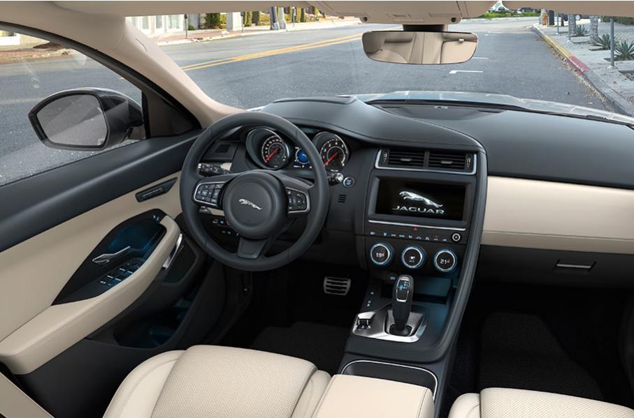 Auto Stahl Jaguar E-Pace Innenansicht