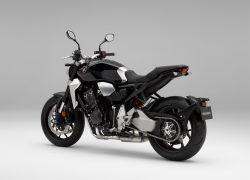 Honda Bike CB1000R bei Auto Stahl Seitenansicht Schwarz Silber