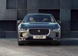 Jaguar I-Pace bei Auto Stahl Frontansicht Grau Straße