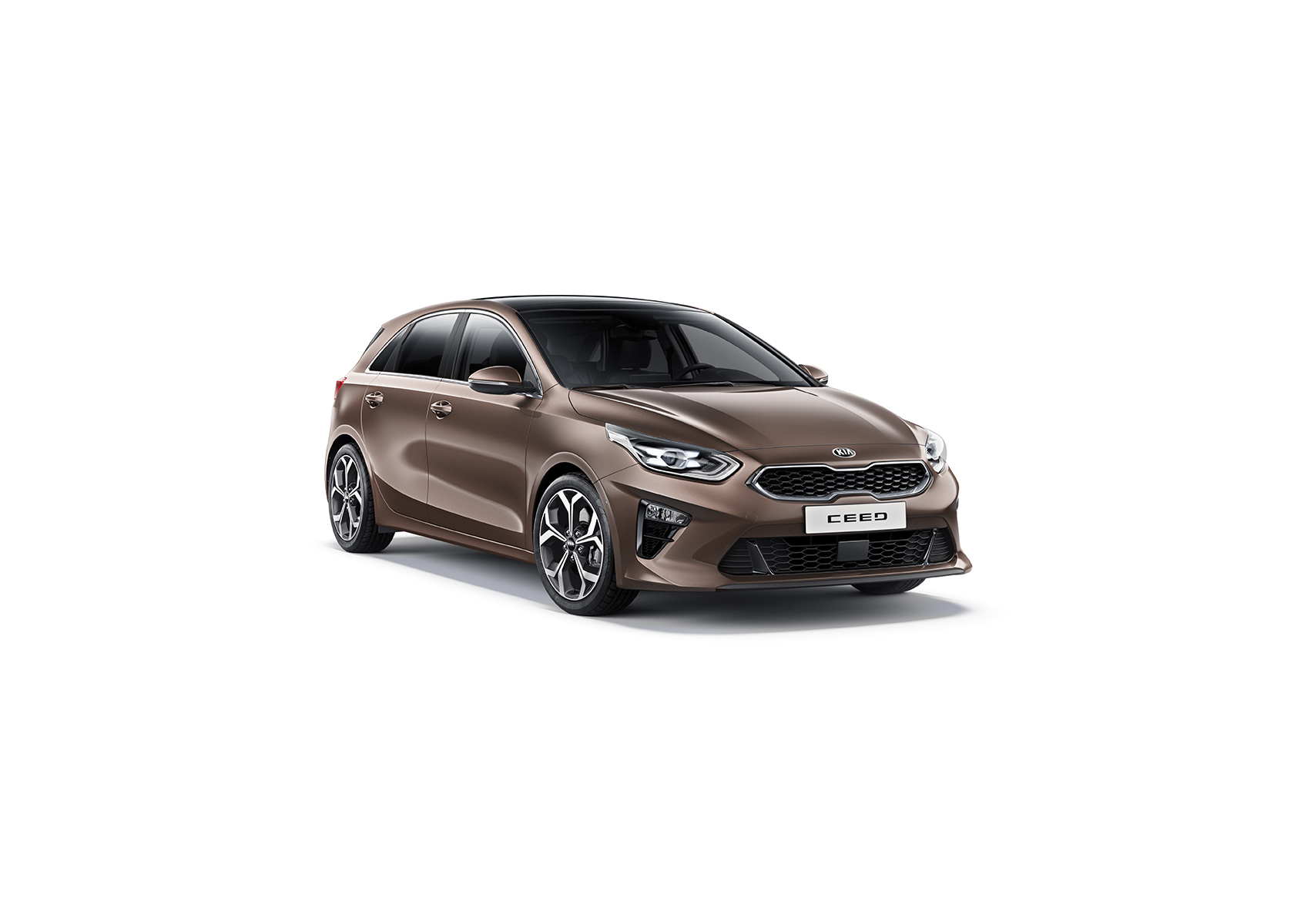 Kia Cee´d 2018 bei Auto Stahl Detail Seitenansicht Braun Front