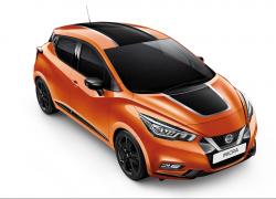 Nissan Micra Seitenansicht Frontansicht Orange Schwarz