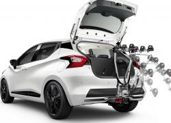 Nissan Micra Heckansicht Kofferraum Weiß