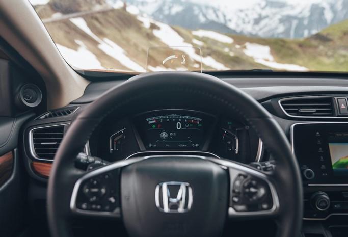 Honda CR-V 2018 Lenkrad Tacho Innenansicht Schwarz