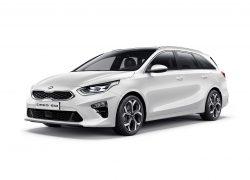 Kia c'eed SW 2019 Auto Stahl Seitenansicht Weiß Front