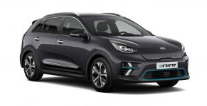 Kia e-Niro bei Auto Stahl Elektro Schwarz Seitenansicht Auto