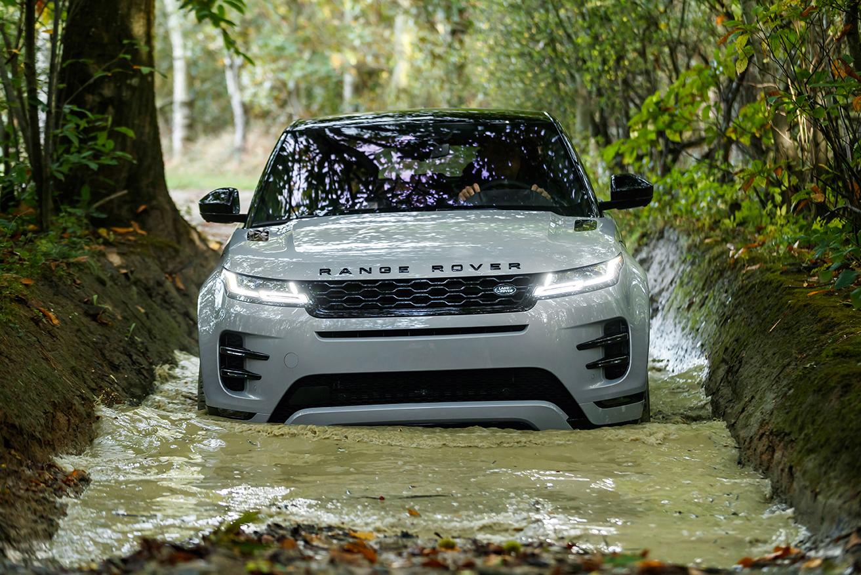 Range Rover Evoque 2019 Frontansicht Kühlergrill Scheinwerfer Licht