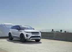 Range Rover Evoque 2019 Anhänger Seitenansicht Straße
