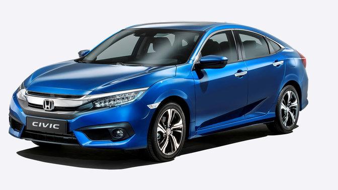 Honda Civic Limousine bei Auto Stahl Seitenansicht