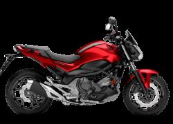 Honda NC 750S bei Auto Stahl Rot Schwarz Seitenansicht