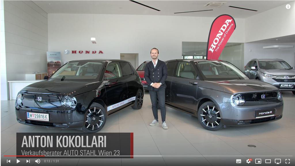 Honda e Landingpage Videostandbild