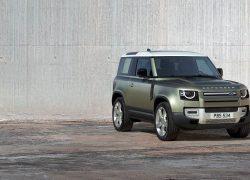Land Rover Defender bei Auto Stahl Seitenansicht Modellbild