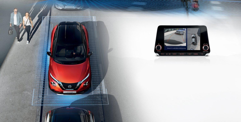 Nissan Juke 2019 Auto Stahl Vogelperspektive