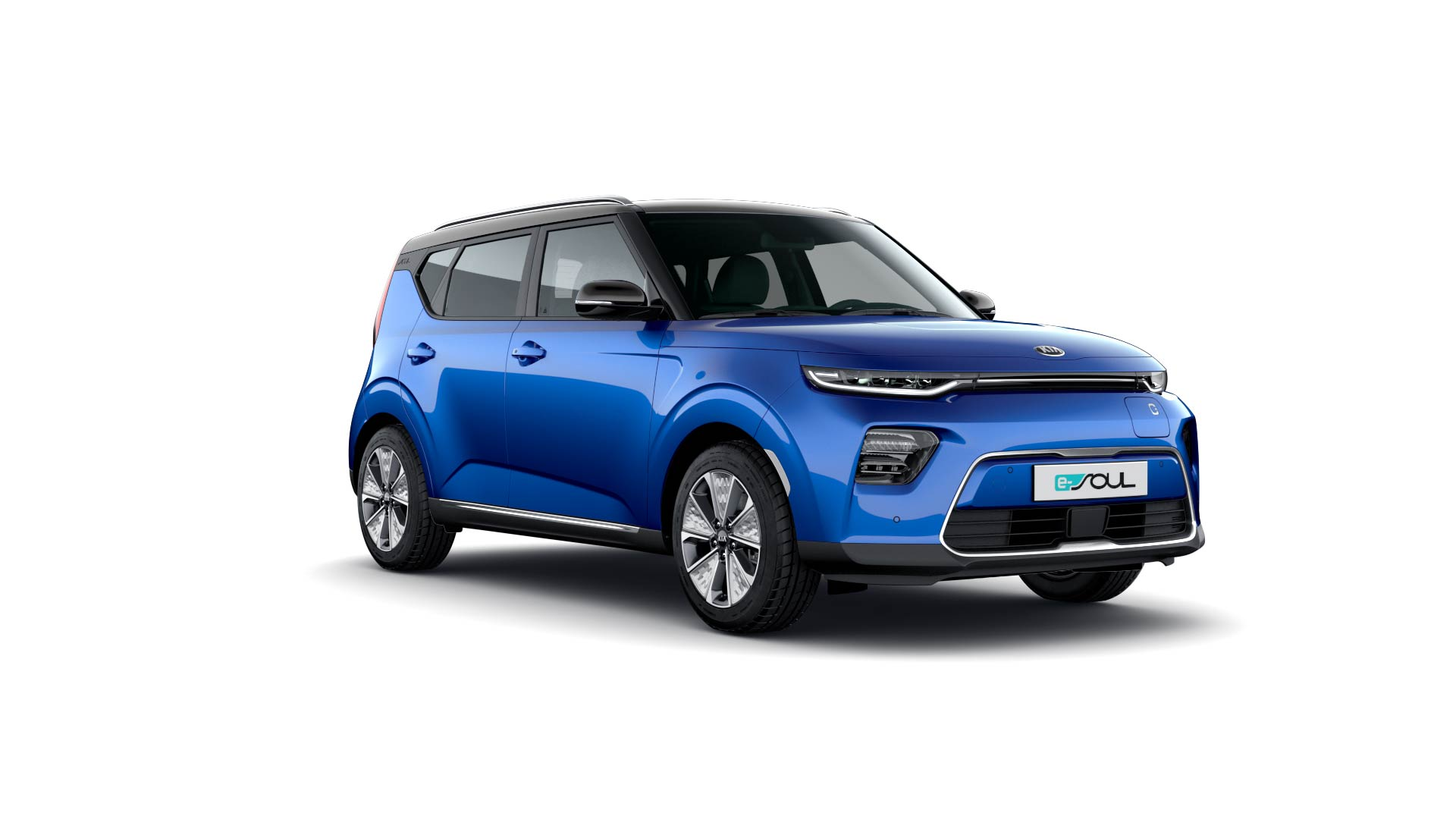 Kia e-Soul Auto Stahl Seitenansicht Blau Elektro