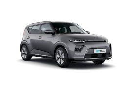Kia e-Soul bei Auto Stahl Seitenansicht Grau Elektro
