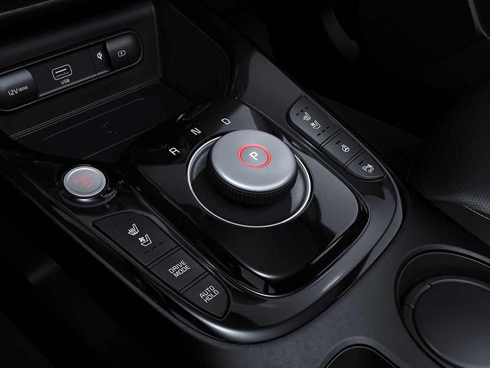 Kia e-Soul Innenansicht Automatik Auto Stahl