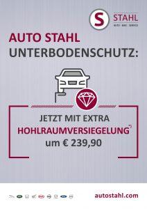Aktuelle AKtionen bei AUTO STAHL Unterbodenschutz plus Hphlraumversiegelung bei AUTO STAHL