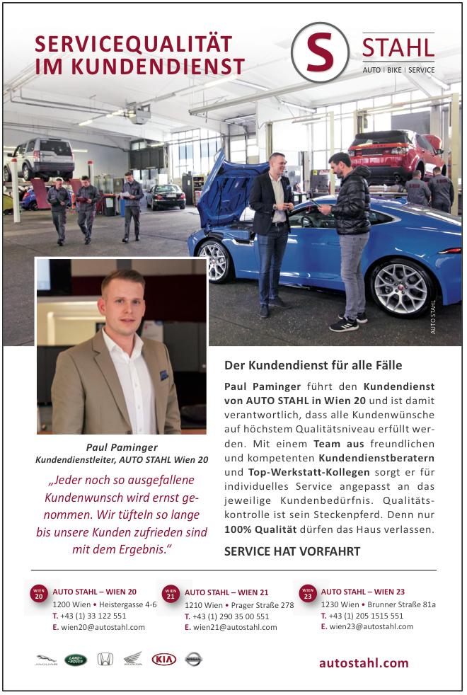 Presseartikel Auto Stahl Kurier Artikel: Servicequalität im Kundendienst, erschienen am 14.4.2019