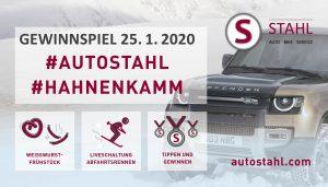 Ankündigung Gewinnspiel beim Frühstück bei AUTO STAHL am 25.1.2020