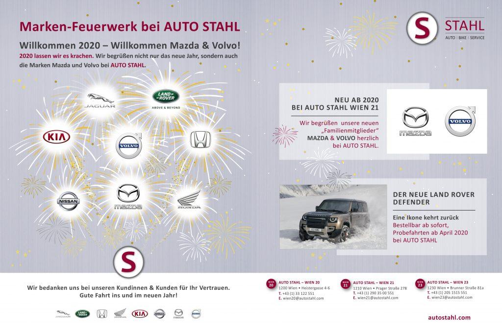 Markenfeuerwerk bei AUTO STAHL –Mazda und Volvo demnächst bei AUTO STAHL