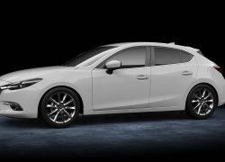 Mazda3 Hatchback bei Auto Stahl Modellfarbe weiß