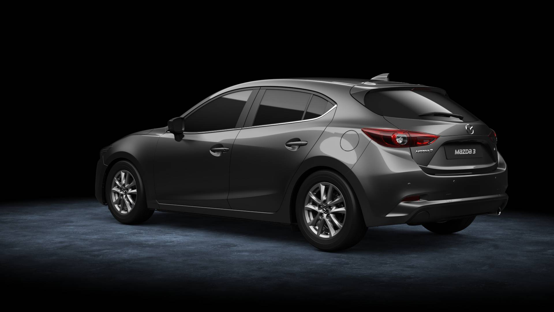 Mazda3 Hatchback bei Auto Stahl Modellfarbe grau