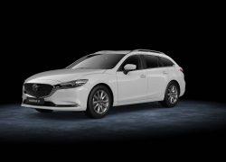 Mazda6 Auto Stahl Modellabbildung in schräger Seitenansicht, Modellfarbe weiß
