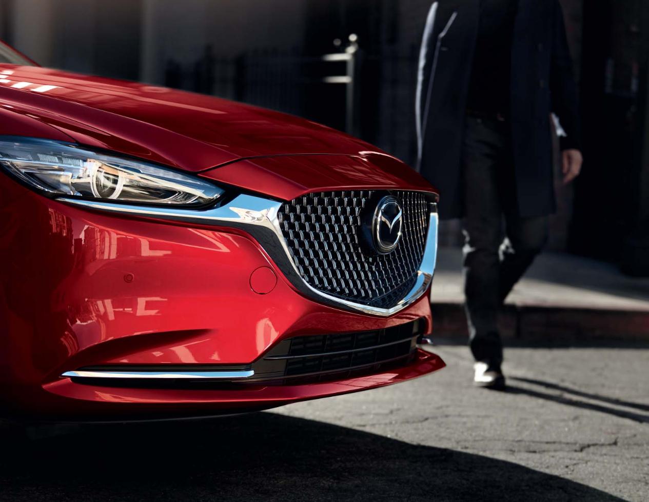 Mazda6 Auto Stahl Modellabbildung Front und seitlicher Kühlergrill, Modellfarbe rot