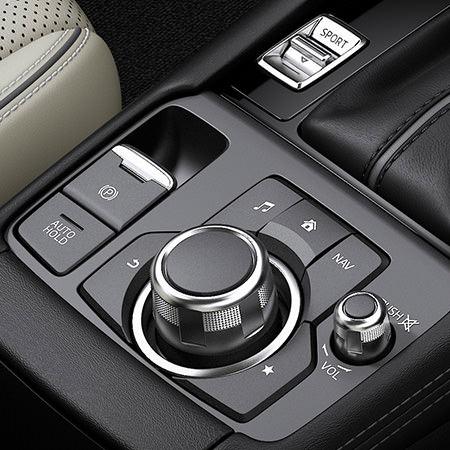 Mazda CX-3 Innenraumansicht Detail des Cockpits