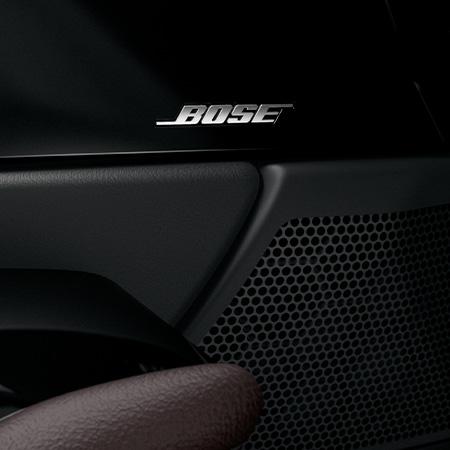 Mazda CX-30 bei Auto Stahl Modellabbildung, Detailansicht des Bose Soundsystems