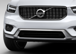 Volvo XC40 Detailansicht Kühlergrill, Modellfarbe weiß
