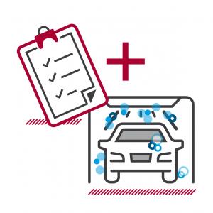 Icon Abbildung AUTO STAHL Service Frühlings-Check für Ihr AUTO mit kostenloser Außenwäsche