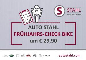 AUTO STAHL Serviceaktion im März 2020: Frühjahts-Check für Ihr Bike in der Heistergasse 4-6, 1200 Wien