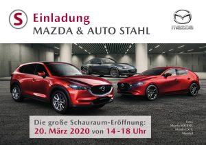 Mazda Schauraumeröffnung am 20.3.2020 bei AUTO STAHL in Wien 21, Prager Straße 278, 1210 Wien